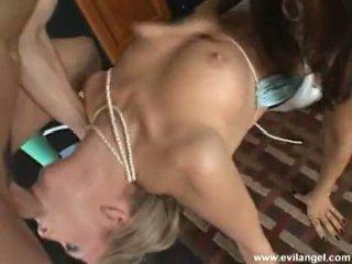 Nakal bayan sundel jaelyn fox blows a hard man sausage with a brunette babeh