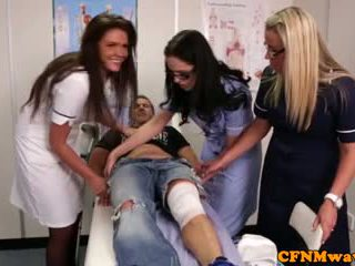 Nurses adele en emma tugging lul hard