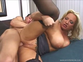 Fat mommy having sex with her stepson