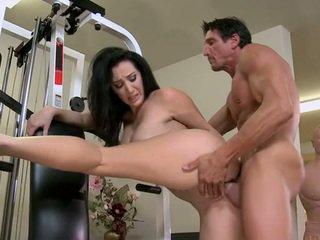 big tits, doggy style, gym