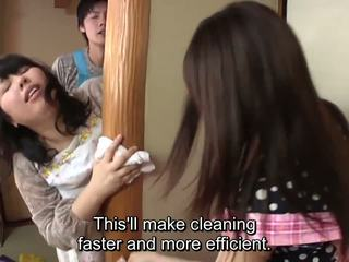 Subtitled japonsko risky seks s voluptuous mati v