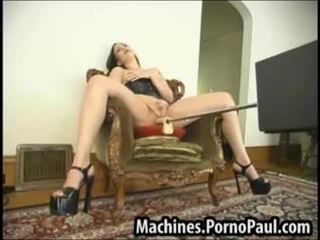 Machines banging her pussy