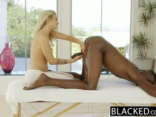 BLACKED Beautiful blonde Karla Kush loves massaging BBC