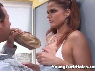 briunetė, jaunas, assfucking