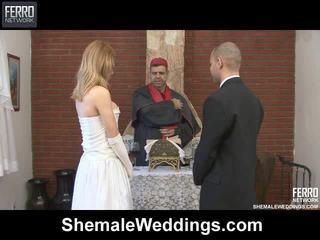 Maišyti apie carla, tony, alessandra iki shemale weddings