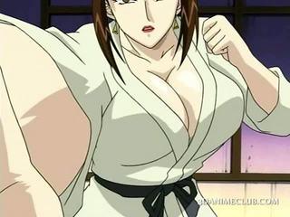 Hentai sex slave gets hot nipples teased in
