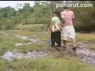 Caliente tailandesa sexo en público