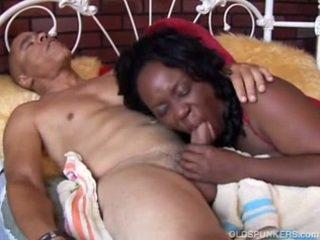 Beautiful big tits mature black babe Y...