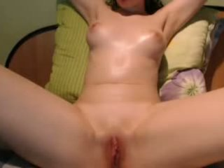 Tight Pink Pussy Clit Rub & Fucked with Vibrator Hitachi