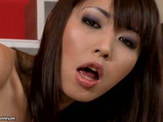 brunett, squirting, japansk