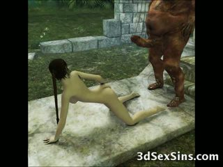 3D Aliens and Demons Fuck Girls!
