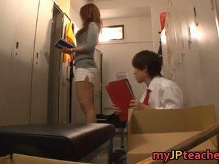 Kaori Sexy Japanese Teacher Getting
