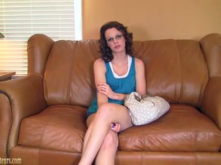 Sexy amateur on casting couch fucked hard