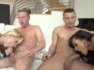 big tits, foursome, mature