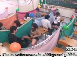 Subtitled জাপান schoolgirls ক্লাসরুম masturbation cafe