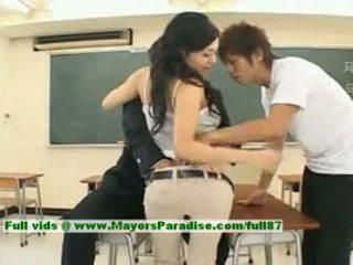 Sora aoi innocent sexig japanska studenten är getting körd