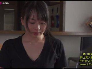 brünette, japanisch, küssen
