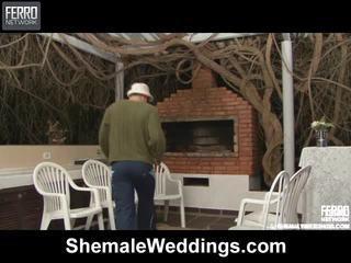 Karstās shemale weddings aina starring senna, rabeche, alessandra