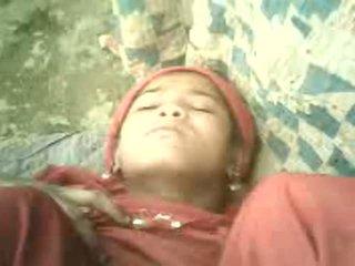 Northindian tüdruk got keppimine koos tema co-worker sisse tent