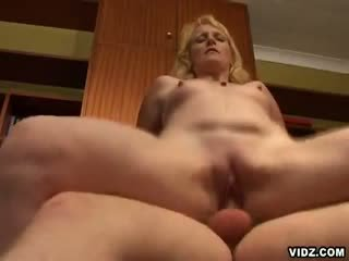 Nasty Blond mature prostitute takes center stage