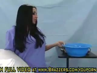 brunettes, boobs, hospital