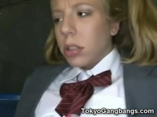 Asiatisch bus perverts auf weiß teen!