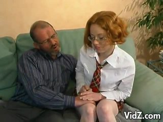 Mesum old man hits on a young redhead