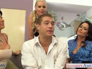 フェラチオ, 集団セックス, 熟女