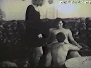 Amatorskie porno z 1959 (ffm trio )