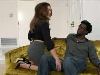 Brunette chick Isabella Soprano knows how to deepthroat a big hard black dick