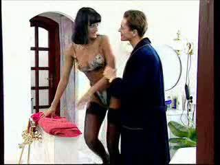 Anita blondýnka takes a velký kohout v ji prdel video