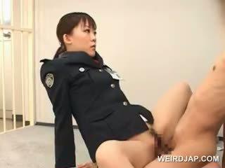 怪異 亞洲人 性別 同 熱 警察 女人 他媽的 一 male
