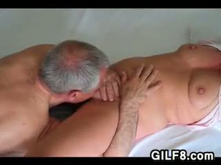 oral sex, licking, grandma