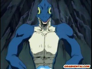 ผ้าพันแผล เฮนไท สาว groupfucked โดย สัตว์ประหลาด lizards