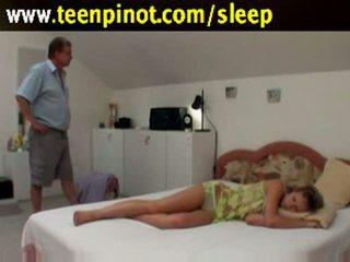 睡眠 孩兒 性交 由 senior