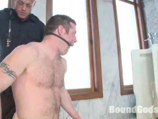 Tyler Fucks Dean Suspended Inside The WC Stall