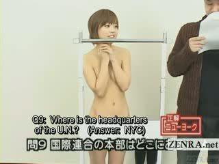Subtitled japans quiz tonen met nudist japan student