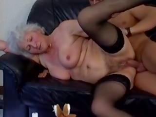 German Grannies: Big Natural Tits Porn Video 23