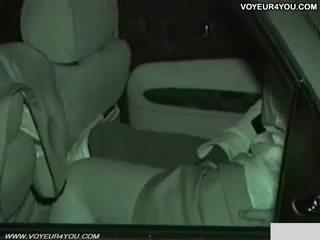 Πραγματικός ερασιτεχνικό ημέρα νύχτα αμάξι σεξ