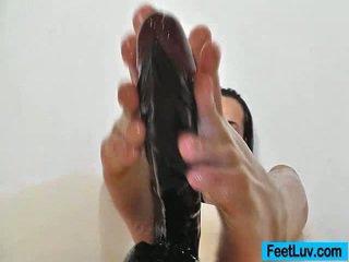 brunette, foot fetish, foot