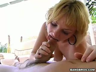 Breasty Blond Pixie Leihla Deepthroating A Large Fat Cock