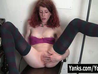 Redhead Staci Toying Her Petite Twat