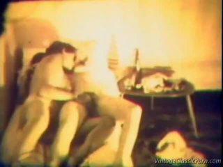 sexo lésbico, muchacho desnudo de la vendimia, vintage porn