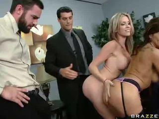 Two Office Sluts Fuck Two Office Dicks