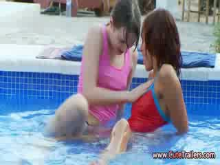 Lesbian friends toying pussies