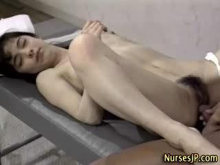 Check hairy pussy nurse get a cumshot