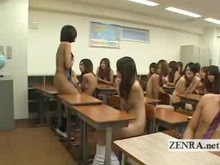Big Titty Japan doll strips Nude in front of students