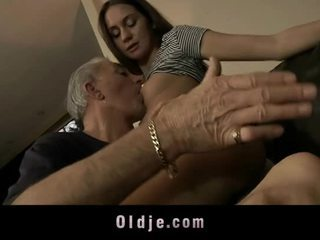 Old Man Is Fucking Cutie Young Ass