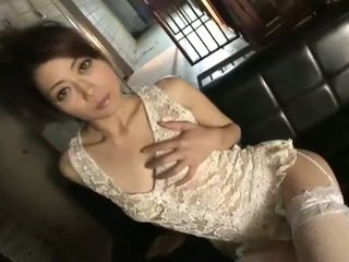 Lovely maki hojo white lace and stockings solo