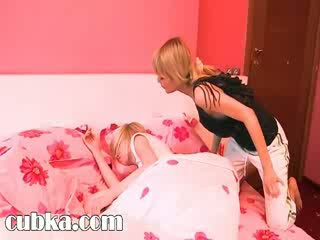Sleepy girl gets copulated with a dildo
